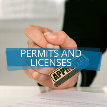 Permits and licenses.
