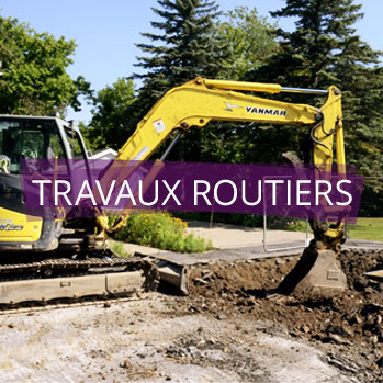 Travaux routiers.